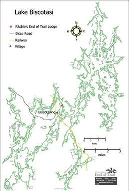 Lake Biscotasi Map