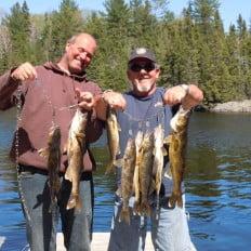 Fishing on Lake Biscotasi