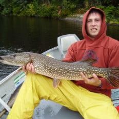 Northern pike fishing