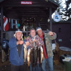 Brian, Rob & James with their catch