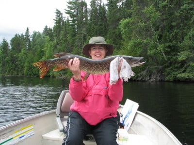 Mary with Big Nothern Pike