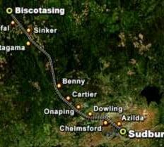 Sudbury to Biscotasing