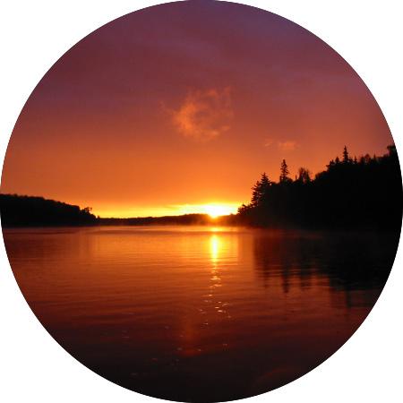 Lake Biscotasi Sunset