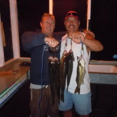 Happy fishermen at Ritchie's End of Trail