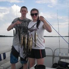 Stringer full of walleye