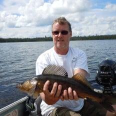 Walleye fishing on Lake Biscotasi