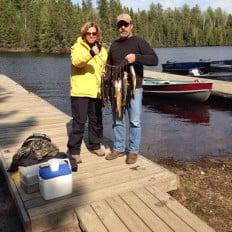 Jeff and Colleen, walleye fishing