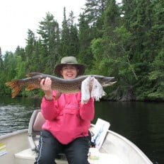 Mary's catch, northern pike