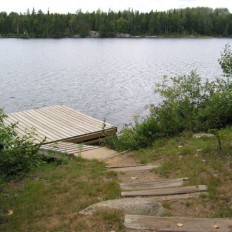 Sunset Cabin Dock