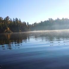 Lake Biscotasi with Morning Fog