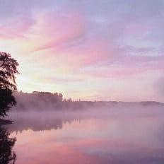 Morning Sunrise Over Lake